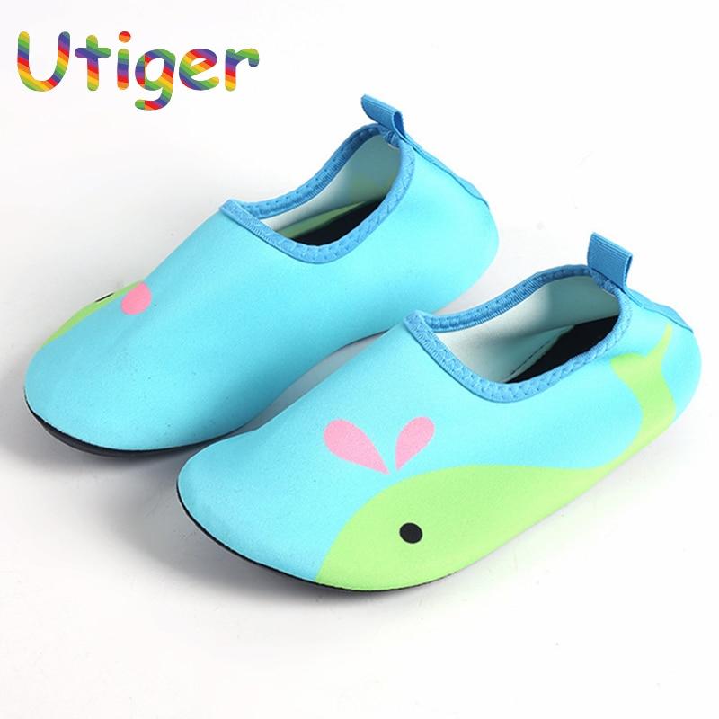 070faa835 Kids Quick Drying Swim Water Shoes Boy Girl Casual Footwear Barefoot  LightWeight Aqua Socks For Beach Pool Children Slippers