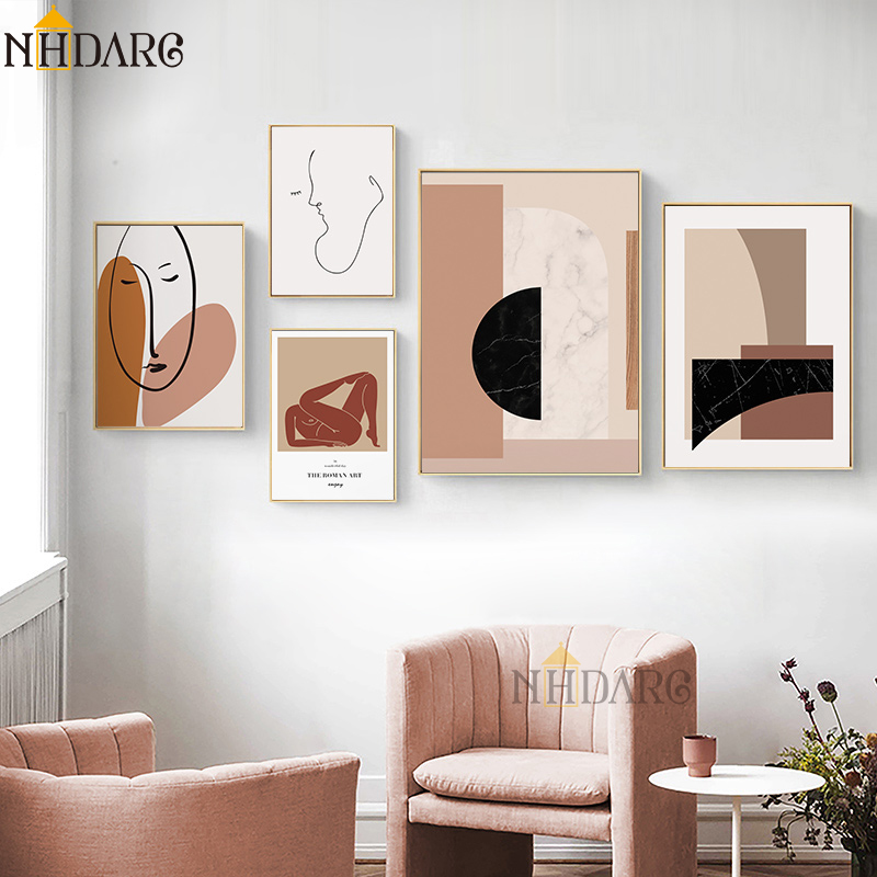 Vintage Vogue Fashion Character Sketches Canvas Painting Abstract Poster Prints Home Decor Wall Art Picture For Living Room