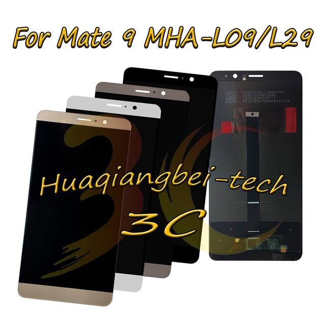 5.9 New Đối Với Huawei Mate 9 MHA L09 MHA L29 Đầy Đủ LCD Hiển Thị + Màn Hình Cảm Ứng Digitizer Lắp Ráp 100% Thử Nghiệm Với theo dõi
