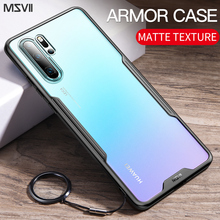 Msvii Luxury Armor Case For Huawei P30 P20 Pro Translucent Matte Bumper Cover Phone Shell