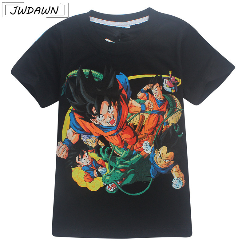Boys Tshirt Kid Cute Goku 3D Shirt DBZ T Shirts Casual T