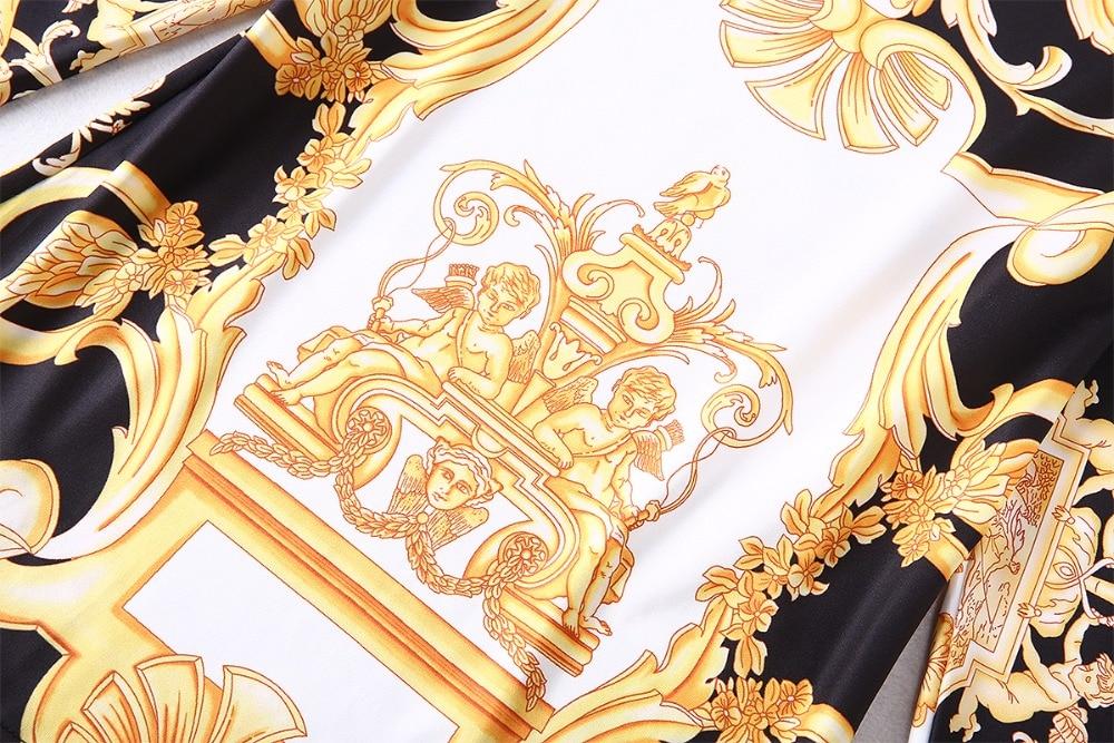 Top Mini Femmes Printemps Manches Jupe Ensembles Turn Collar Imprimé Mince Costume Qualité Pantalon Arrivée 2018 Nouvelle Meilleur Pleine down AR4L35j