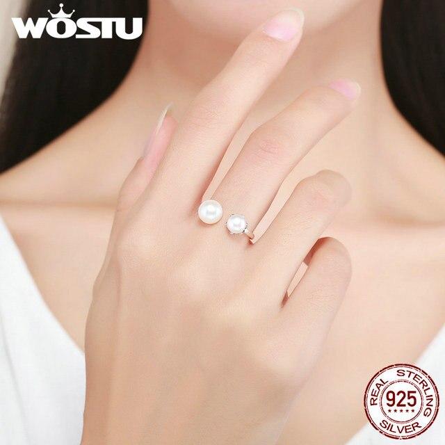 Anillos de plata de ley 925 y perlas de agua dulce cultivadas para mujer S925, joyería de plata de lujo CQR192