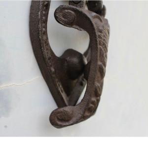 Image 2 - 13.5x3.5x22.5cm Vintage iron angel door handle  courtyard Home Furnishing mural ornaments