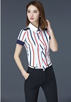 2017 Summer Fashion Striped Formal OL Styles With Tops And Pants For Ladies Work Wear Female Trousers Sets Pants Suits