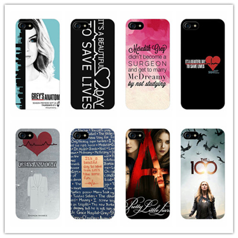Cute Greys Anatomy Quotes Pattern Black Hard Plastic Phone Case ...