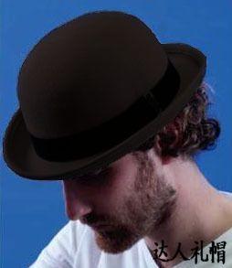 100% Wool Brown Bowler Hat luxury felt bs