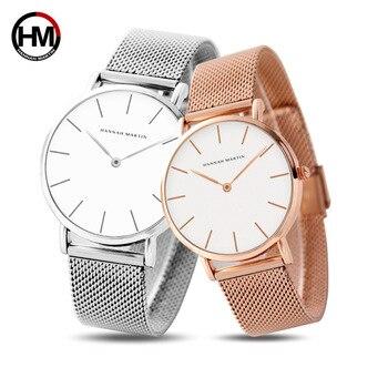 цена Women Men Watches Luxury Brand Rose Gold Couple Watch Quartz Wristwatch Steel Mesh Male Female Clock Relogio Feminino Masculino онлайн в 2017 году