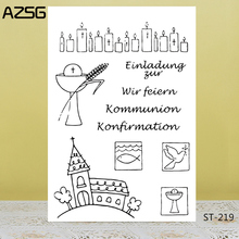 AZSG Prayer Cross Clear Stamps For DIY Scrapbooking/Card Making/Album Decorative Silicon Stamp Crafts