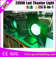 2pcs/lot High Brightness Aluminium Case Warm White 200W LED Par Light For Stage