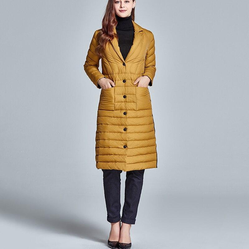 2019 new Women Down Jacket Women Winter Duck Down Parkas Warm Outwear Down Long Jacket Coat Slim white duck down Coat