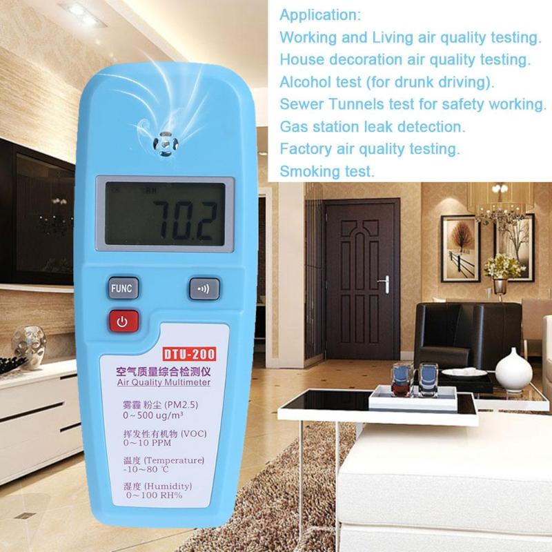 LCD Air Quality Multimeter Dust VOC Temperature Humidity Meter Popular Atmosphere Environment Detector Air Analyzer indoor air quality pm2 5 monitor meter temperature rh humidity