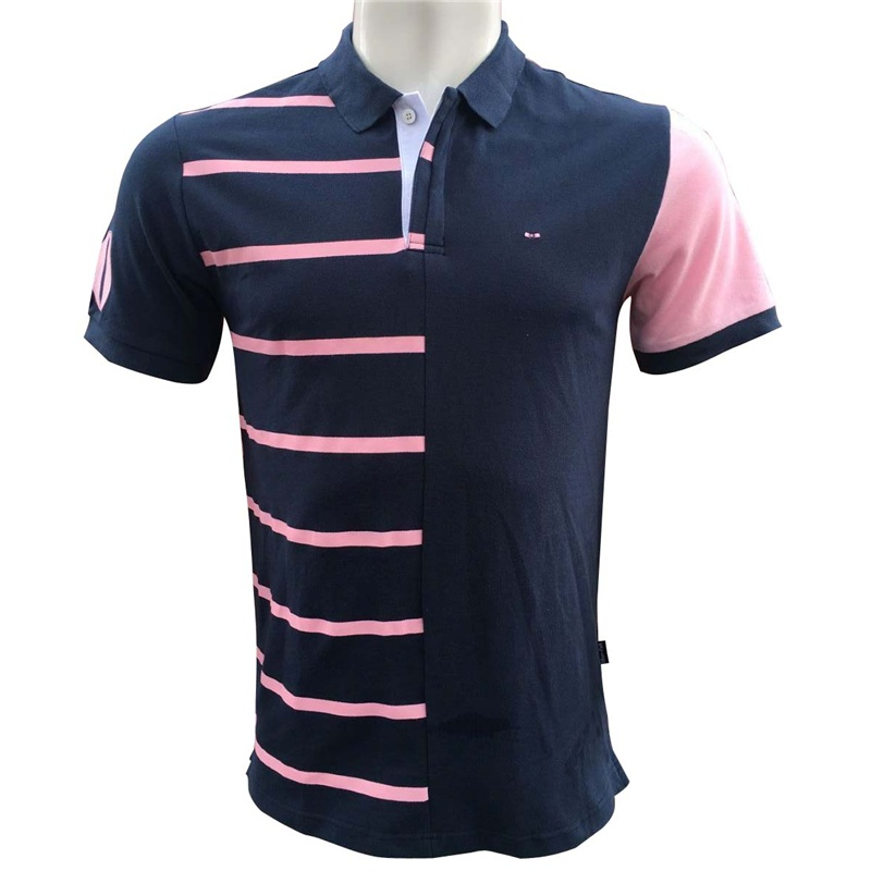 high quality men's Eden park Short   polos   shirt striped COTTON Embroidery tees for Men French brand lapel tees plus Size XXXL