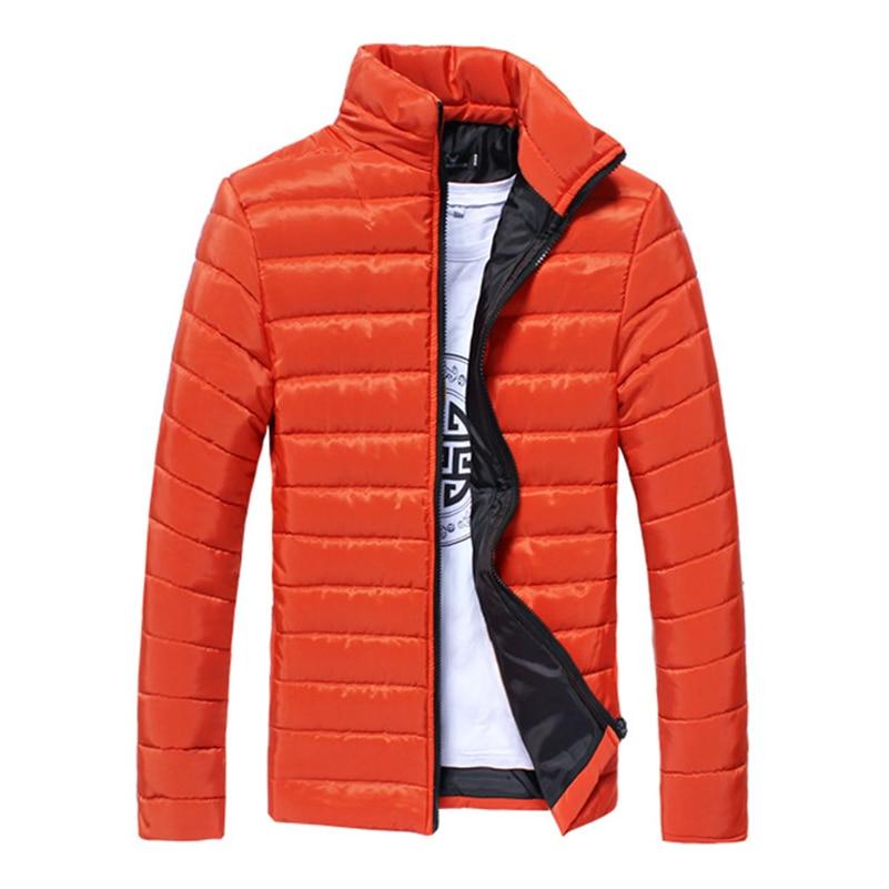 2018 New Men's Long sleeve warm cotton coat for Man Multi-color optional