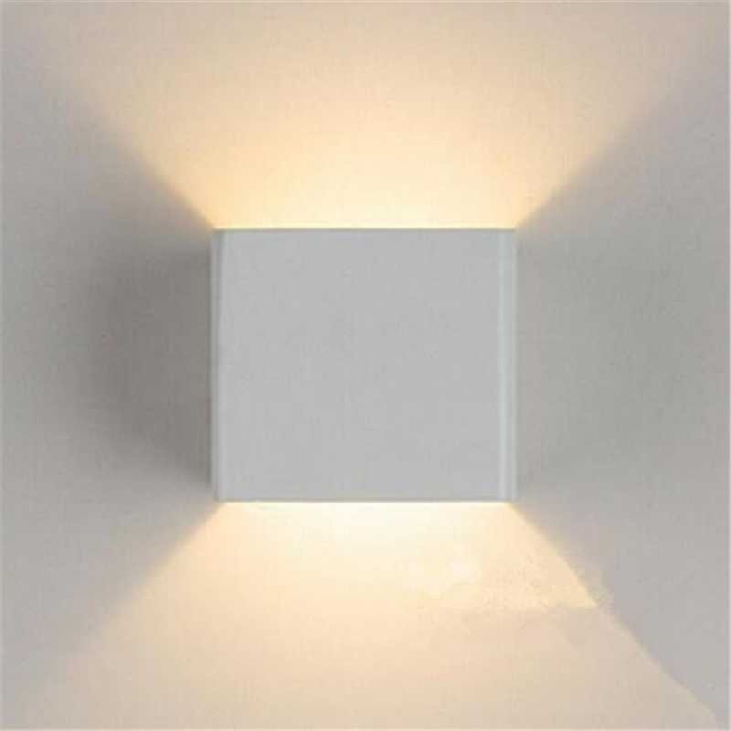 Modern led square cube lights lamp led wall lamp 6w wall sconce modern led square cube lights lamp led wall lamp 6w wall sconce white indoor lighting for bed room ac85 265v led up down lights in led indoor wall lamps aloadofball Image collections