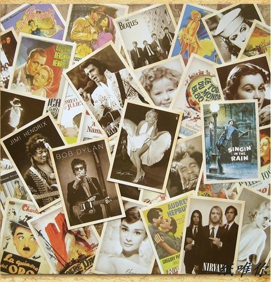 Carte Postale Retro 32 pcs classic movie star collector retro nostalgia postcards