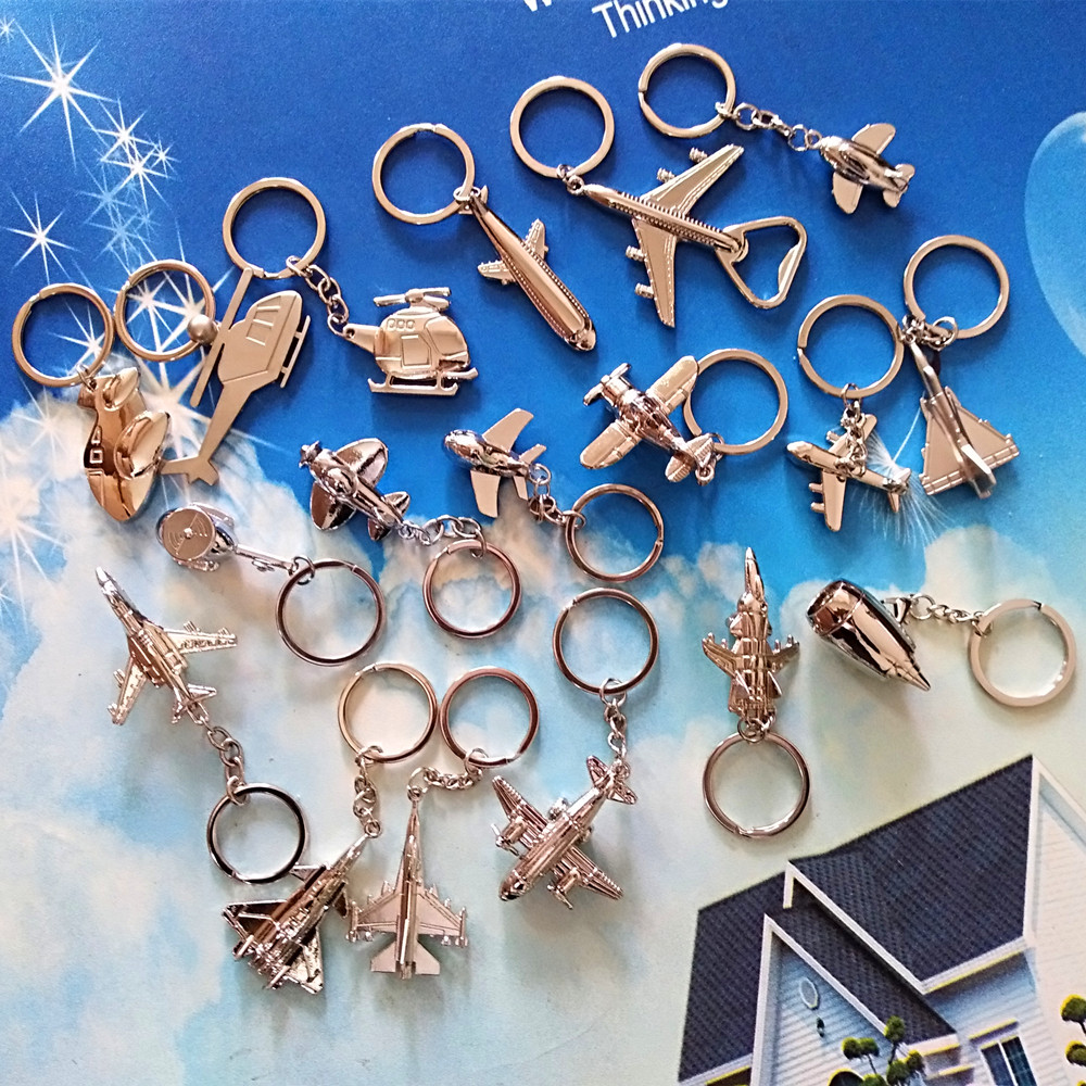 1 Pcs Mini Aircraft Keychain Aircraft Model Keyring Airliner Helicopter Combat Aircraft Keychain Air Plane Keychain Pendant