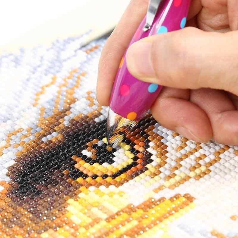 Berlian Profesional Alat Lukisan Lucu Pena Titik Bor Diamond Bordir Aksesori Diamond Lukisan Cross Stitch Alat Kit