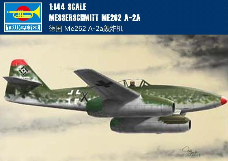 1:144 German Messerschmit Me262 A-2a Bomber Fighter Model Plastic Assemble Model