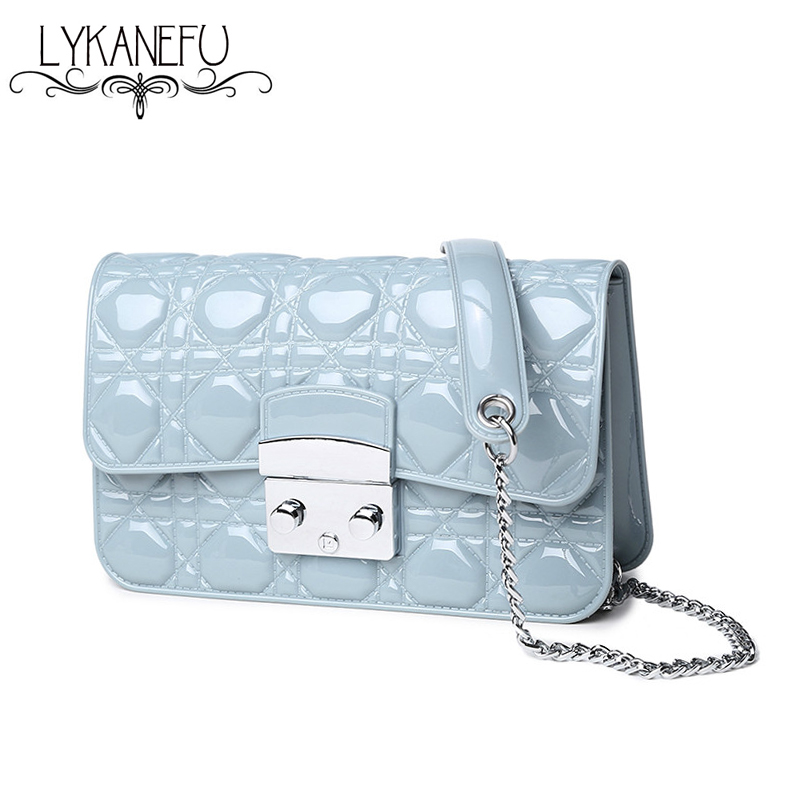 Candy Color Jelly Bag Mini Handbag Crossbody Bags for Women Clutch Purse Chain Bag for Summer
