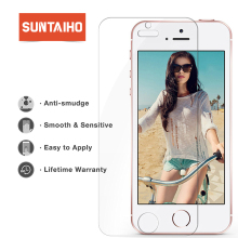Suntaiho 9H Tempered Glass Screen Protector Film For 5 5s 5c SE screen protector guard film front case cover With Retail Package
