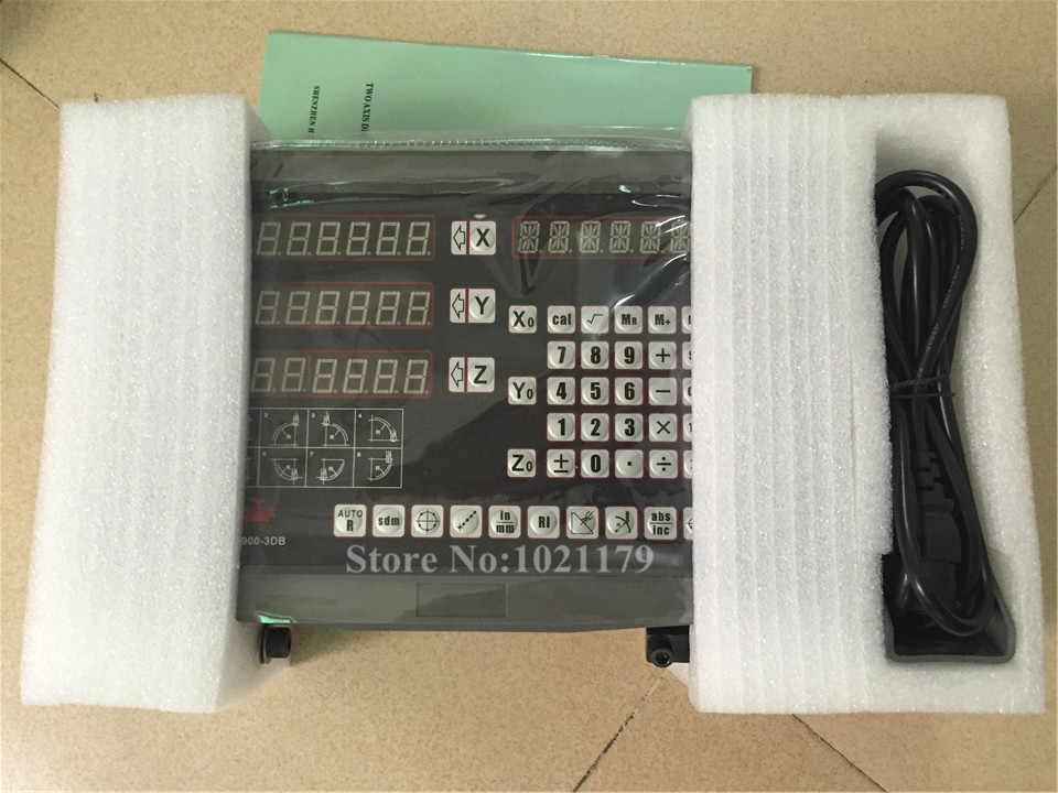 DRO 3 Eixos de leitura digital/display digital unidades moinho dro com escala linear de 5 micron 1VPP/TTL para fresadora/torno máquina moedor