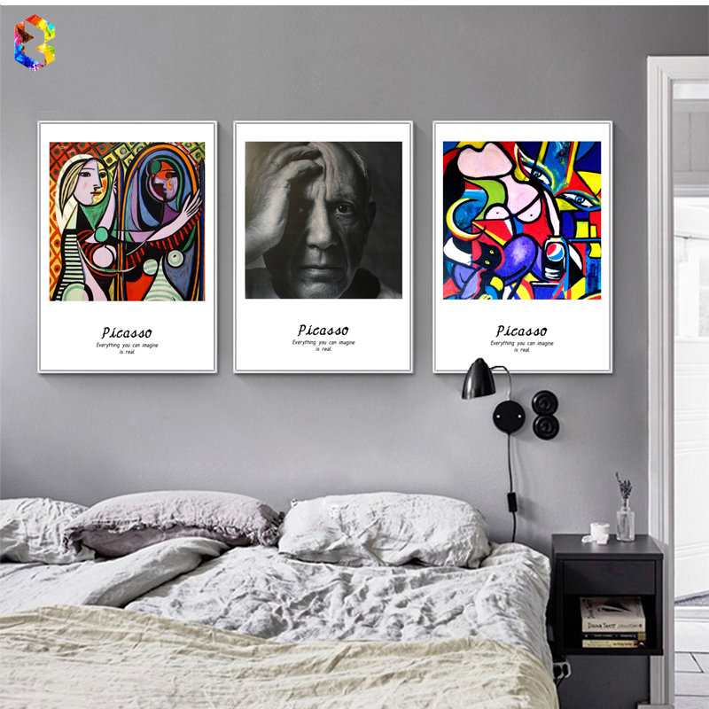 Picasso Famous Painting Canvas Umělecká reprodukce Poster Wall Picture for Living Room Decoration Abstraktní Home Decor