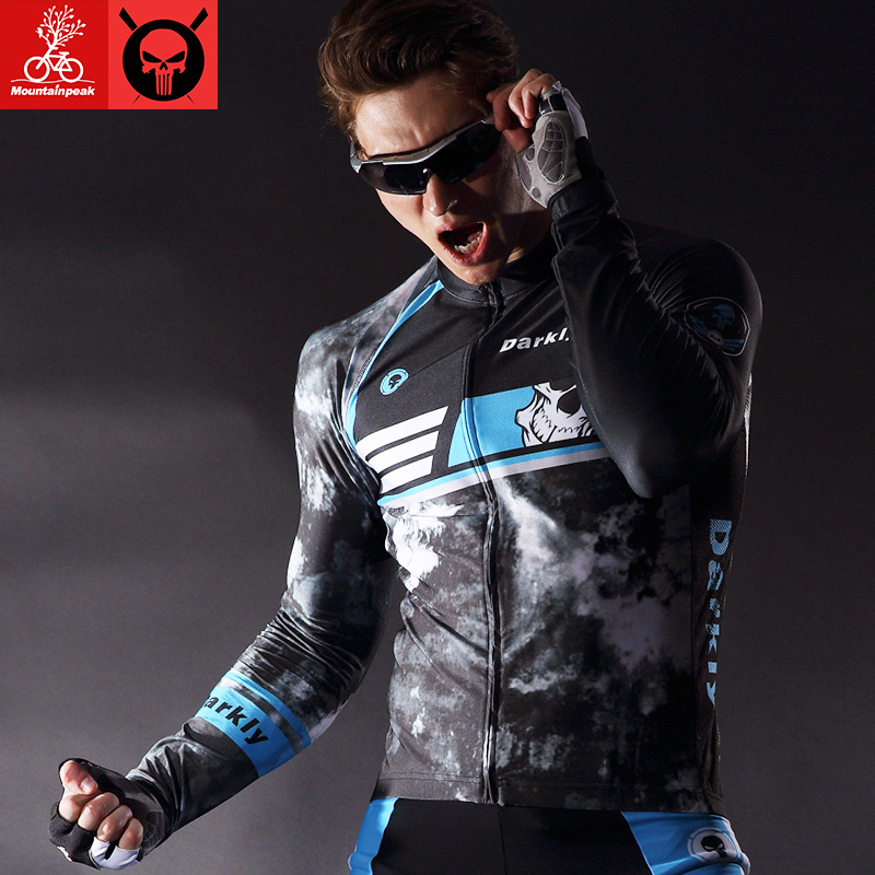 Mountainpeak Spring Autumn Long Sleeve Elastic Fabric Quick Dry Ciclismo Mans Woman Cycling Jersey Sets GEL Pad Bicycle Clothing