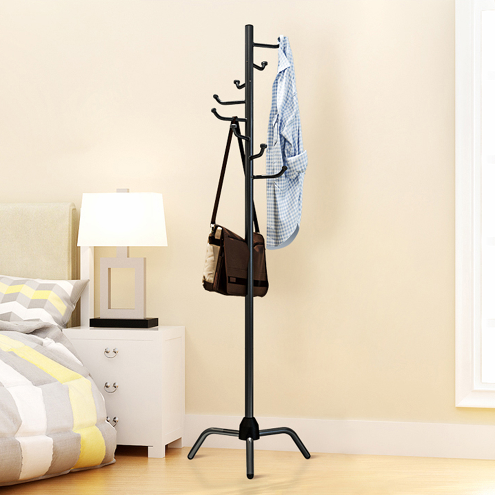 Coat Rack Adult Clothes Hanger Clothes Tree Hat Hanger Tripod Clothes Rack With L-shaped Hooks For Bedroom Living Room BalconyCoat Rack Adult Clothes Hanger Clothes Tree Hat Hanger Tripod Clothes Rack With L-shaped Hooks For Bedroom Living Room Balcony