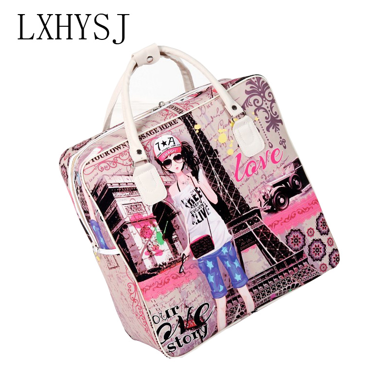 Hand-Luggage-Bag Travel-Bags Ladies Waterproof High-Capacity Women New Cartoon Leisure