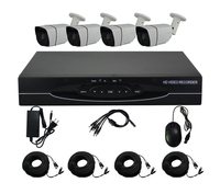 Aokwe 1080N HD 1800TVL Outdoor Security Camera System HDMI CCTV Video Surveillance 4CH DVR Kit AHD