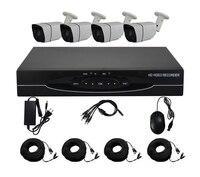 Aokwe 1080N HD 1800TVL Outdoor Security Camera System HDMI CCTV Video Surveillance 4CH DVR Kit AHD