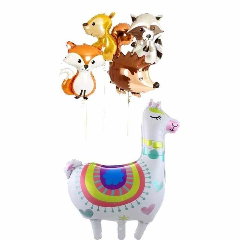 1pc di Grandi Dimensioni Volpe Riccio E Aerostati della Stagnola Animale Scoiattolo Decorazioni della Festa di Compleanno Per Adulti BabyShower Decorazione Palle Giocattolo Per Bambini
