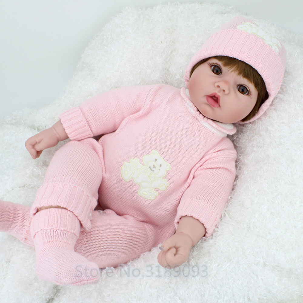 New Silicone 50cm Doll Reborn Babies Silicone Lifelike Realistic Baby Dolls Kids Growth Partners birt reborn Toys For ChildrenNew Silicone 50cm Doll Reborn Babies Silicone Lifelike Realistic Baby Dolls Kids Growth Partners birt reborn Toys For Children
