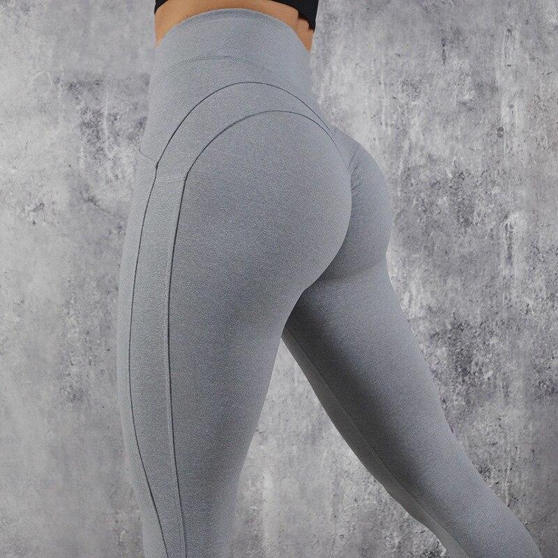 NORMOV Fashion Leggings Women Fitness V Shape Legging Push Up Leggings Sexy Workout High Waist High Quality Pants Female