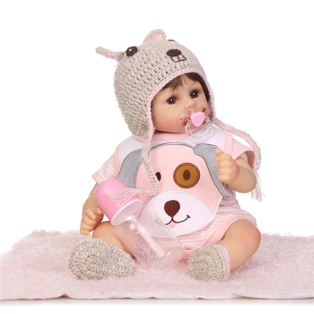 48 cm Bebes Reborn poupée souple Silicone garçon fille jouet Reborn bébé poupée cadeau pour enfants rose vêtements fille NPK réel toucher belle