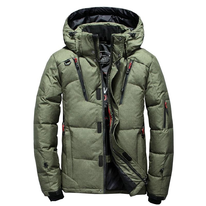 Épais chaud hommes veste d'hiver à capuche en plein air canard vers le bas Parka de haute qualité coupe-vent hiver manteau décontracté hommes pardessus