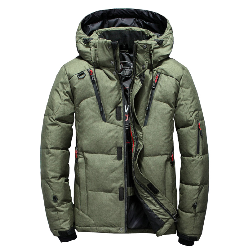 Thick Warm Men's Winter Jacket Hooded Outdoor Duck Down   Parka   High Quality Windproof Winter Coat Casual Mens Overcoat