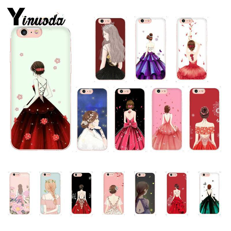 Yinuoda Art Anime Girls Fondos TPU Soft Silicone Phone Case  for iPhone 8 7 6 6S 6Plus X XS MAX 5 5S SE XR 10 Cover