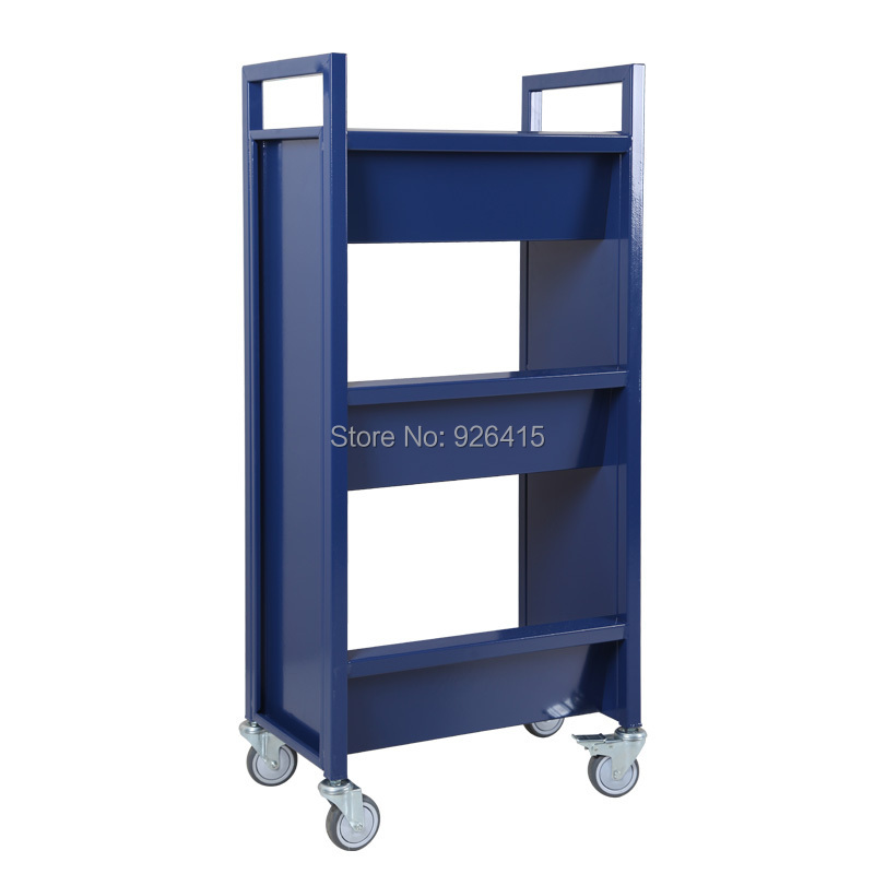 office trolley cart. Beautiful Design Moving Library Book Cart With 3 Slant Shelves,office Archives Trolley ,small RCA 3S LIB04-in Furniture From Office