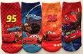 12 par/lote alta calidad 2014 nuevo verano calcetines del algodón del bebé lindo de los niños calcetines niños de dibujos animados cars calcetín 4 diseños diferentes