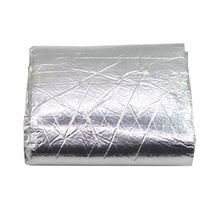 цены 100x 250cm Heat Killer Noise Deadener Muffler Mat Foil Shield Deadener Insulation Mat Aluminum Cotton Car-Styling