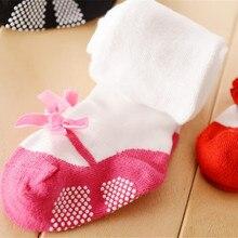 Розовые хлопковые колготки для маленьких принцесс; чулки с бантом для новорожденных девочек; Infantil Menina; колготки; одежда для детей; костюм для От 1 до 3 лет