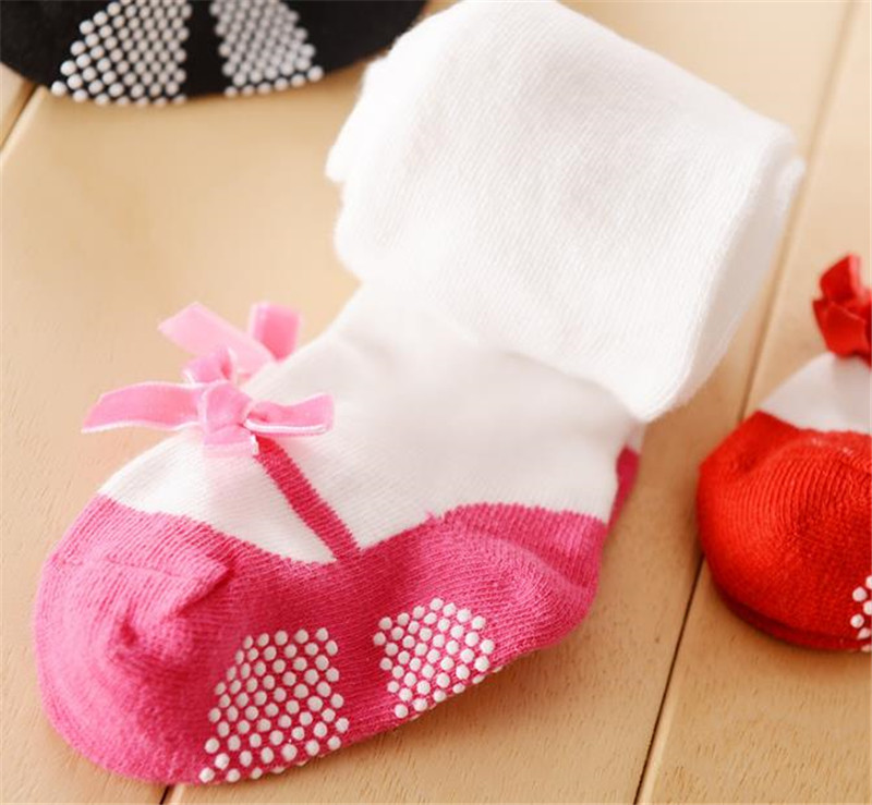 Baby Princess Pink Cotton Tights Newborn Girl Bow Stockings Infantil Menina Pantyhose Kids Clothing Suit for 1-3 Years baby girls tights toddler kids stockings bow cotton warm pantyhose hosiery little girl tights suit for 0 24m