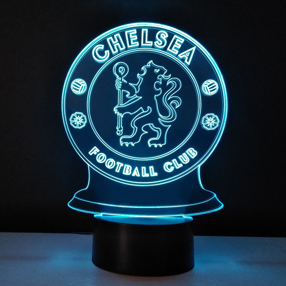 Led 3D Night Light Football club Touch Lamp Bedroom Table lampe Energy Saving nightlights decor Lampy