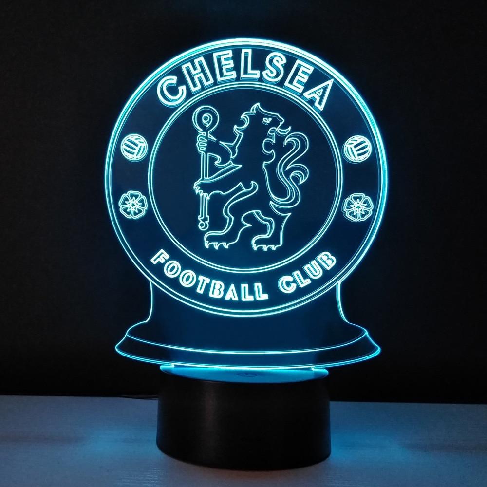 Led 3D Night Light Football club Touch Lamp Bedroom Table lampe Energy Saving nightlights decor Lampy