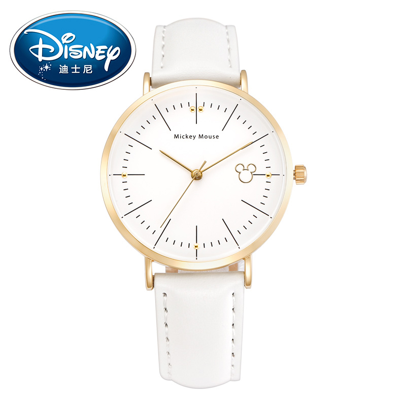 2017 Disney Kids Watch Children Watch Fashion Simple Wristwatches Girls Mickey Mouse Gift Leather Water Resisitant clock
