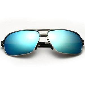 Image 3 - Veithdia alumínio magnésio polarizado óculos de sol masculinos quadrados vintage masculino óculos de sol acessórios oculos para homem 6521