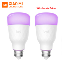 Wholesale Original Xiaomi Yeelight Smart LED Bulb Colorful 800 Lumens 10W E27 Lemon Smart Lamp For Mi Home App White RGB Option