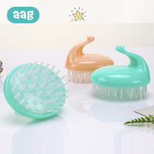 AAG Animal Baby Shampoo Bath Brush Portable Soft Silicone Massage Brushs Healthy PP Newborn 10